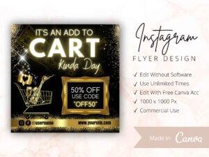 Add To Cart Flyer, Instagram Flyer, Canva Flyer
