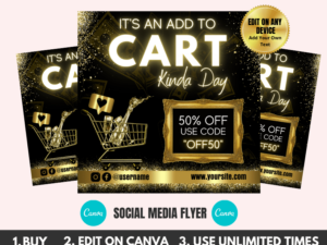 Add To Cart Kinda Day Flyer, Instag...