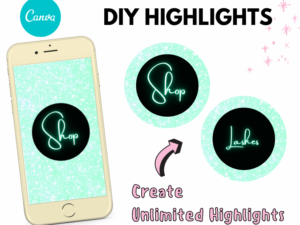 DIY Instagram Highlights, Turquoise Highlights