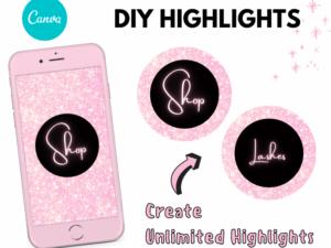 DIY Instagram Highlights, Pink Highlights