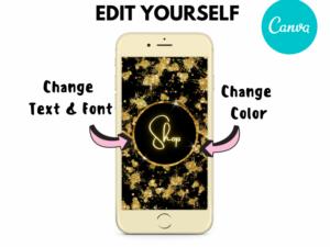 DIY Gold Splash Instagram Highlights, Canva Highlights