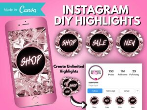 DIY Rose Gold Diamond Instagram Hig...
