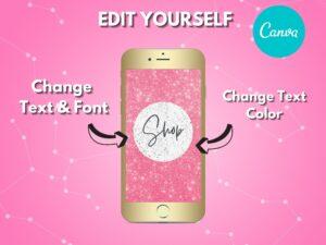 DIY Pink White Texture Instagram Hi...