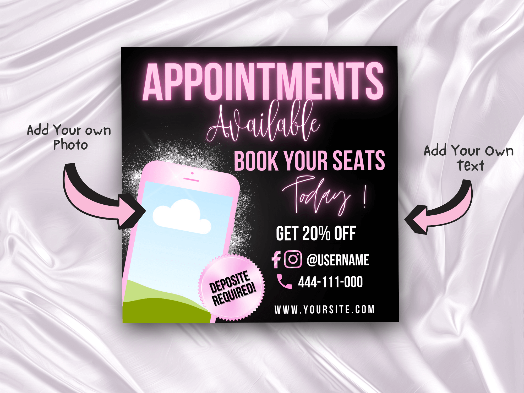 Appointments Available Flyer, Insta...
