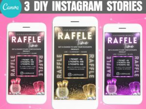 Raffle Instagram Story Template Canva