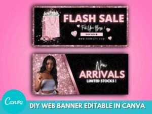 DIY Rose Gold Web Banner Set O...