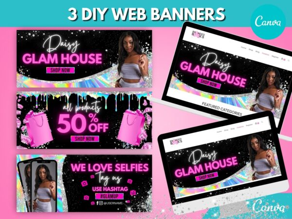 holographic web banner