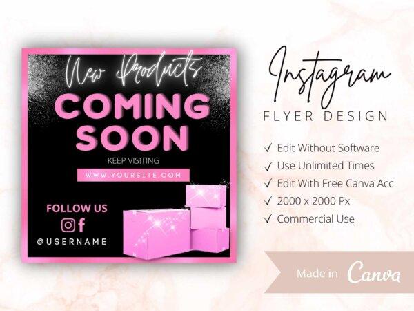 coming soon instagram flyer template