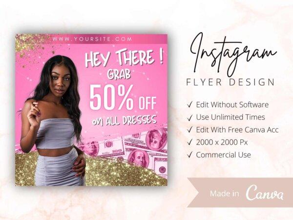 instagram sale flyer