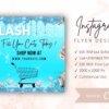 blue flash sale flyer for instagram