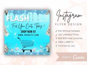 Sky Blue Flash Sale Flyer For ...