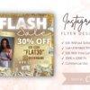 gold flash sale flyer
