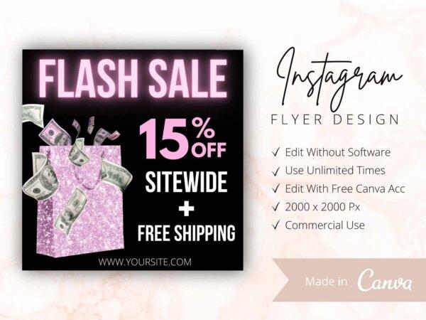 Pink Flash Sale Flyer