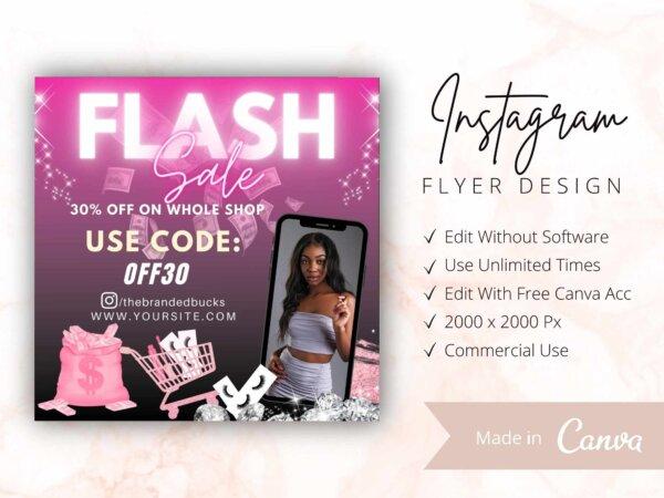 neon flash sale flyer