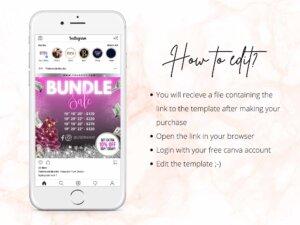 Hair Bundle Sale Flyer Template Canva