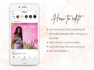 Dresses Sale Instagram Flyer Template