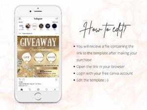 Gold Giveaway Flyer For Instagram