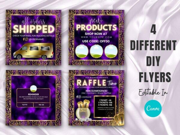 purple Instagram flyer