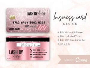 Rose Gold Business Card Design, Cre...