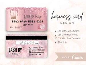 Rose Gold Drip Business Card Design...