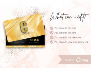 Black And Gold Business Card, Business Card Template