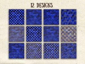 Royal Blue Digital Paper, Scrapbook Paper