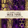 purple gold digital papers
