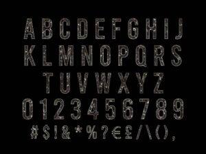 Luxury Gold Alphabets, A to Z Alphabets