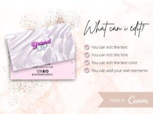 Light Pink Business Card Design, Ca...