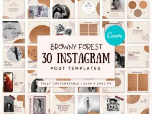 30 Browny Forest Instagram Pos...