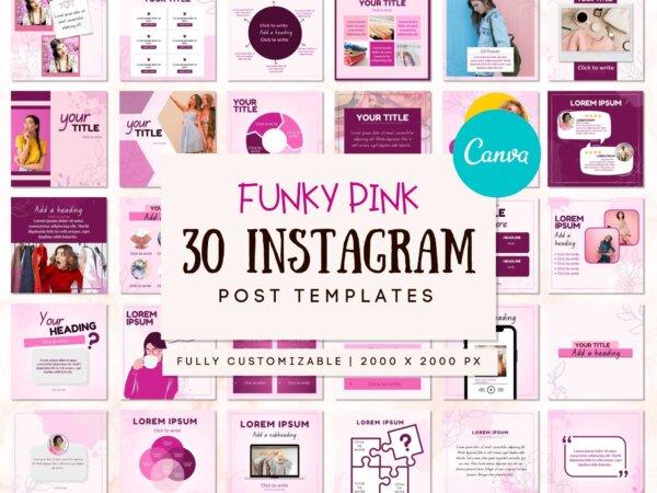 pink instagram post templates