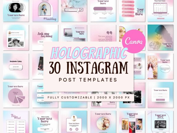holographic instagram template