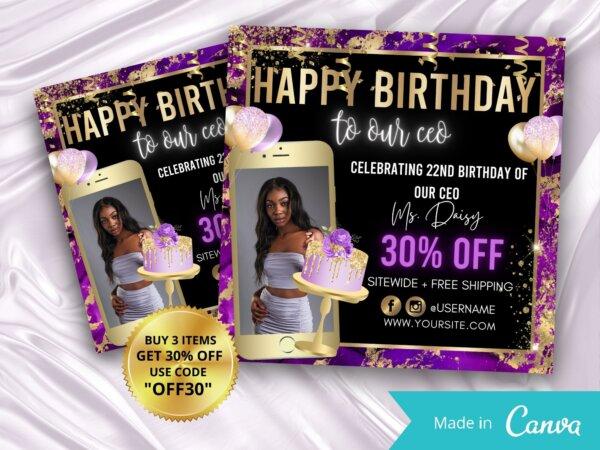 happy birthday ceo flyer
