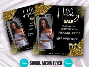 Black Gold Holiday Sale Instagram Flyer