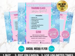 lash winter sale instagram flyer