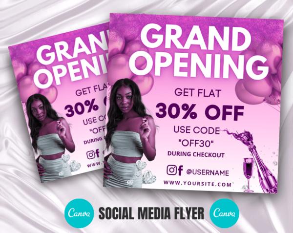 grand opening instagram flyer
