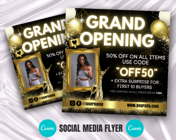 gold grand opening flyer