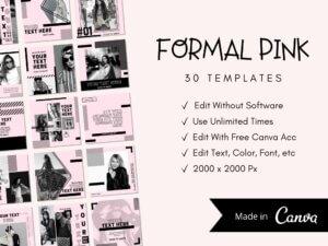 30 Formal Pink Instagram Post Templ...