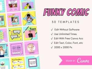 30 Funky Comic Instagram Post Templ...