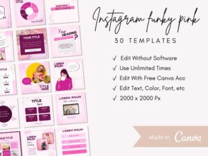 30 Funky Pink Instagram Post Templa...