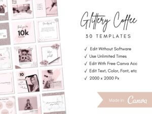 30 Glittery Coffee Instagram P...