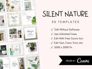 30 Nature Instagram Post Templates