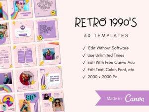 30 Retro Instagram Post Templates