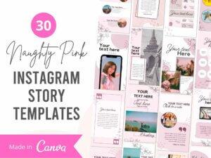 30 Naughty Pink Instagram Story Tem...