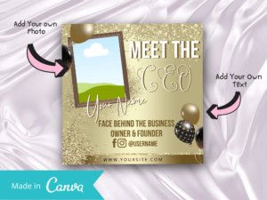 Gold Meet Our CEO Instagram Flyer