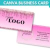 pink lash business card template
