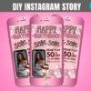 happy birthday instagram story