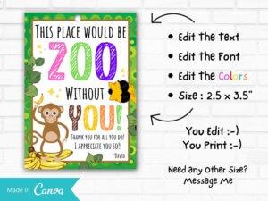 Zoo Animal Teacher Appreciation Gif...