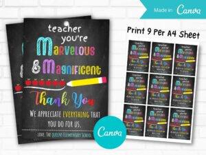 Teacher You're Marvelous Gift...