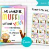 We Would Be Muffin Without You Gift Tag Printable